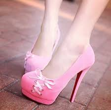 ribbon heels shoes pink high heels platform high heels bows ribbon