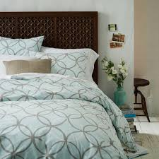 Graphic Duvet Cover Circles Blue And Gray Duvet Cover And Shams