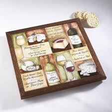 personalized wine and cheese pairings tile board wine enthusiast
