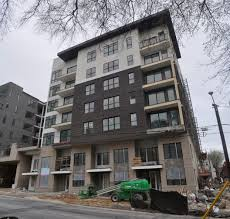 broadstone midtown on juniper street nears completion curbed atlanta