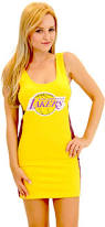 nba los angeles lakers laker girls cheerleader costume tank dress