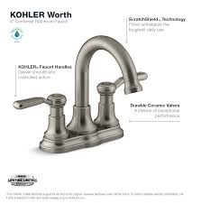 How To Change A Bathroom Faucet Kohler Worth 4 In Centerset 2 Handle Bathroom Faucet In Vibrant