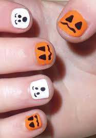 53 most adorable orange and white nail art design ideas