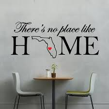 personalized home decor home state customized there u0027s no place like home with heart