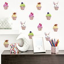 online get cheap cupcake wall art aliexpress com alibaba group funlife watercolor cupcake peel stick waterproof art wall stickers for bedroom living room decors 6