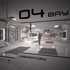 3d futuristic interior scene model futuristic interior