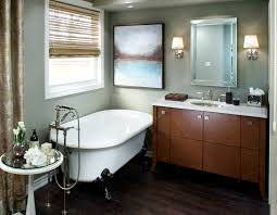 candice olson designed bathroom using benjamin moore gettysburg