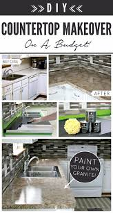 Cheap Kitchen Countertops by Best 10 Countertop Makeover Ideas On Pinterest Cheap Granite
