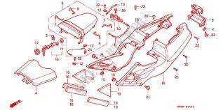 siege honda siege couvercle lateral frame rvf400rr 1994 rvf 400 moto honda