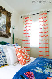Stripe Curtain Panels Diy Embellished Curtains An Anthropologie Swing Stripe Curtains