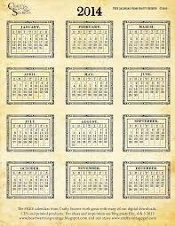 32 best calendars free printable 2014 images on pinterest free