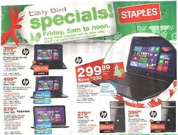 the best black friday computer deals staples black friday 2012 ad leaks laptop desktop tablet pc