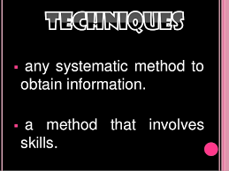 Skills And Techniques Used In Counselling Instruments And Techniques Used In Guidance