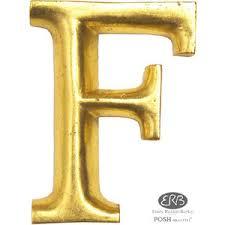 posh graffiti wooden letter f gilded with gold 12cm posh g