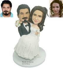personalized cake topper bobblehead cake toppers for wedding cakes wedding corners