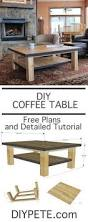 Woodworking Building A Coffee Table by Best 25 Diy Coffee Table Ideas On Pinterest Coffee Table Plans