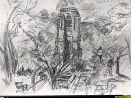 plein air sketching in frederick maryland black elephant blog