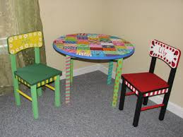 solid wood childrens table and chairs hand painted children s table acrylic paint with sealer on solid