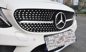 mercedes grill abs shining diamont mesh car front grill grille for mercedes