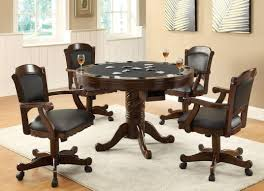 Office Kitchen Tables amazon com 3 in 1 oak finished wood poker pool game dining