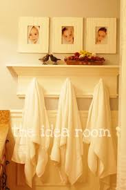 bathroom towel hooks ideas diy new bathroom shelf with towel hooks the idea room