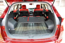 hyundai tucson trunk space hyundai tucson rear seats folded cargo space malaysia 2016