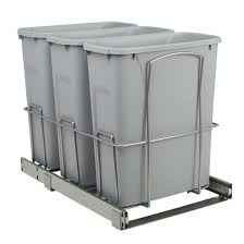 3 Bin Cabinet Knape U0026 Vogt Scb Multi Waste Bin Pull Out With Wire Support