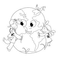 save earth coloring pages kids coloring