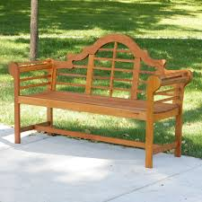 achla designs lutyens eucalyptus wood garden bench 4 5 ft