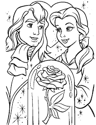 printable 47 beauty beast coloring pages 1707 beauty