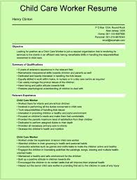 Caregiver Objective Resume Cover Letter Child Caregiver Resume Child Caregiver Resume