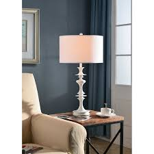 White Table Lamp Kenroy Home 21033wh Claiborne Table Lamp Gloss White Amazon Com