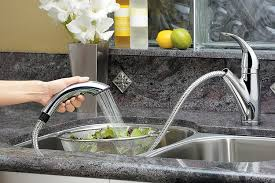 Price Pfister 974 035 by Pfister Lg5347cc Parisa 1 Handle Pull Out Kitchen Faucet Polished