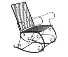 wrought iron rocking chair vintage patio swing outdoor garden