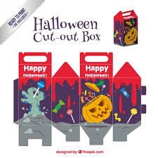 Halloween Cut Outs Scary Halloween Cut Out Box Vector Free Download