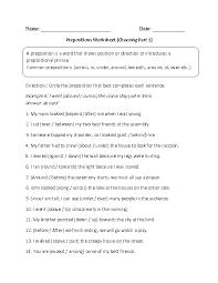 englishlinx com prepositions worksheets