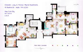 Floor Plan Of An Apartment From Friends To Frasier 13 Famous Tv Shows Rendered In Plan