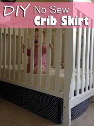 Crib Bed Skirt Diy Diy No Sew Crib Skirt A Fail And A Fix Baby Gizmo