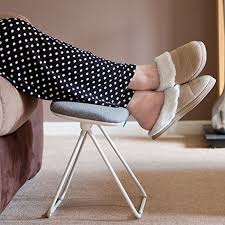 tilting leg rest stool foot rest leg support stool footstool grey