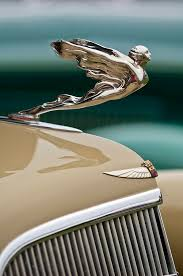 1935 cadillac convertible ornament photograph by reger