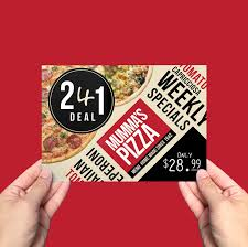 pizza menu flyer template for photoshop u0026 illustrator brandpacks