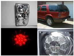 2004 silverado led tail lights chevy blazer 1995 2004 smoked led tail lights a122xj4b109