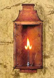 outdoor gas lantern wall light exterior gas light made of copper shed a little light pinterest