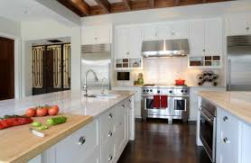 kitchen style wooden logs country kitchen with white cabinets
