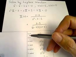 laplace transform table calculator laplace transform solution of an initial value problem youtube