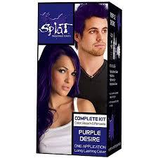 over the counter purple hair toner splat 30 wash hair dye kit semi permanent purple desire
