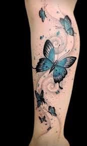 coole tattoos schmetterlinge am bein pinteres