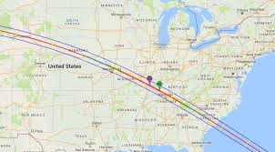 Chicago United States Map by Map Shows How Much Of The Great American Eclipse You Will Be Able