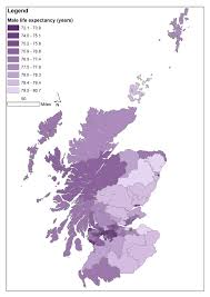 Map Of Glasgow Scotland Mapping Life Expectancy In Scottish Parliamentary Constituencies