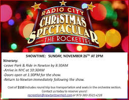 radio city christmas spectacular tickets join town of newton trip to radio city s christmas spectacular